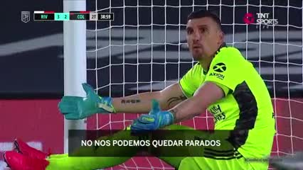 El enojo de Armani tras el gol de Colón