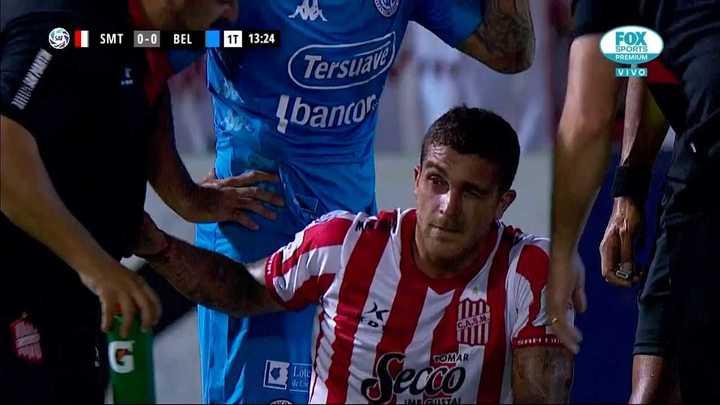 Duro golpe a Adrián Arregui en uno de sus ojos