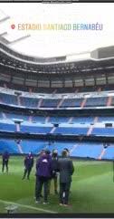 El plantel de River en el Bernabéu