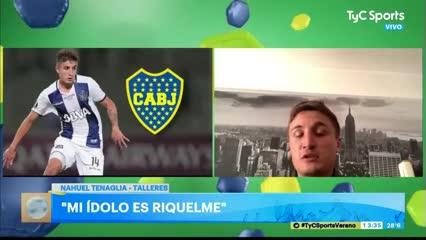 Nahuel Tenaglia habló de Riquelme y Dani Alves