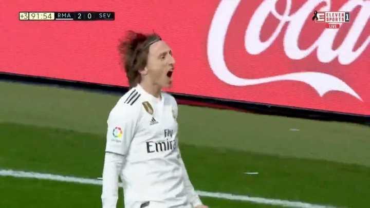 Real Madrid le ganó al Sevilla por 2 a 0