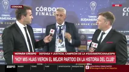 La emoción de Crespo en el recuerdo de Maradona