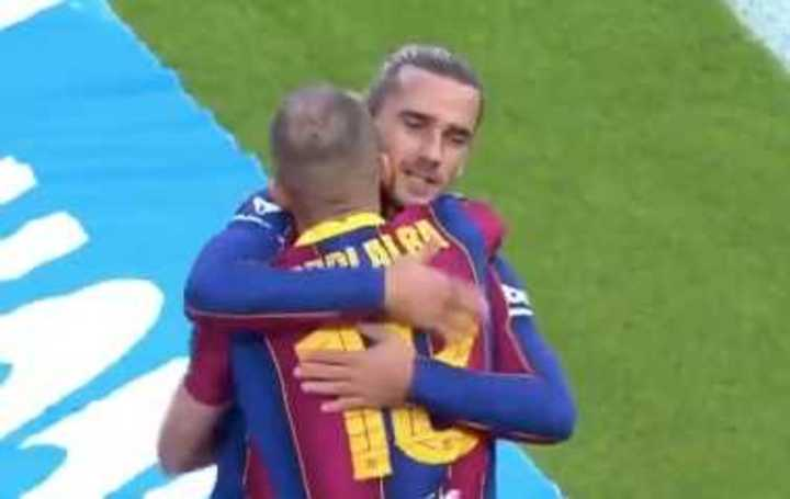 Griezmann marcó el 1 a 0 de Barcelona
