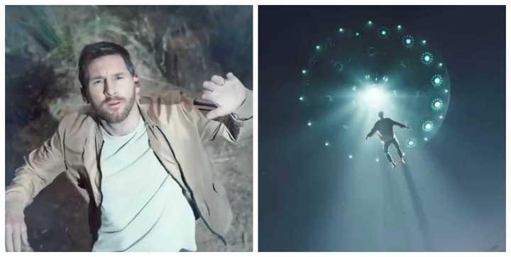Messi secuestrado por un OVNI