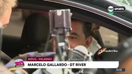 Gallardo a la salida de la clínica: estará en Santa Fe