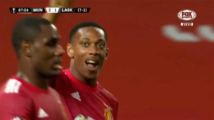 Martial puso el 2 a 1 para el Manchester United