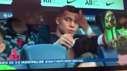 Mbappé se enojó con Neymar