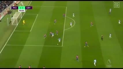 Los goles del empate entre Manchester City y Crystal Palace