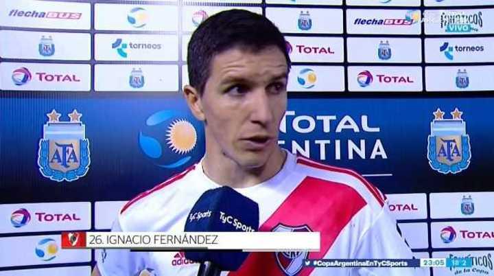 Nacho Fernández habló en el pos