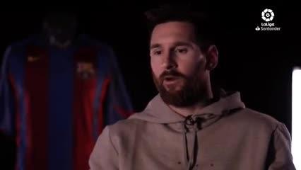 Messi y la entrevista con el sitio de la Liga de España
