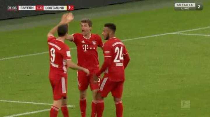 El Bayern venció por 3 a 2 al Dortmund
