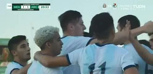 El Cuti Romero puso el 1-1 de la Argentina