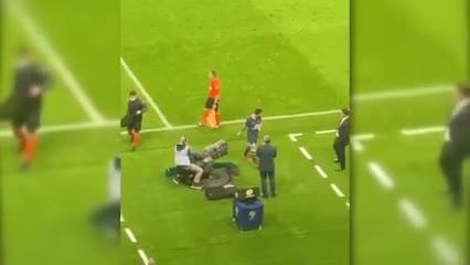 El incidente Messi-Pochettino desde la platea
