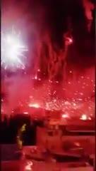 Así se vivió la celebración de la Torcida Split desde los edificios de la ciudad