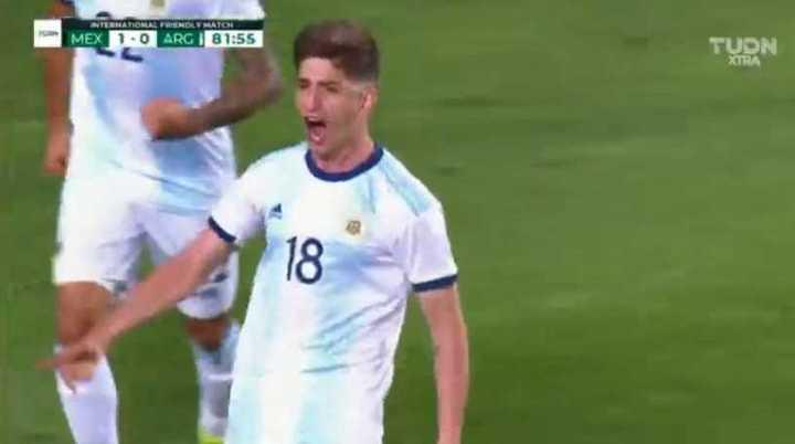 El gol de Belmonte para Argentina