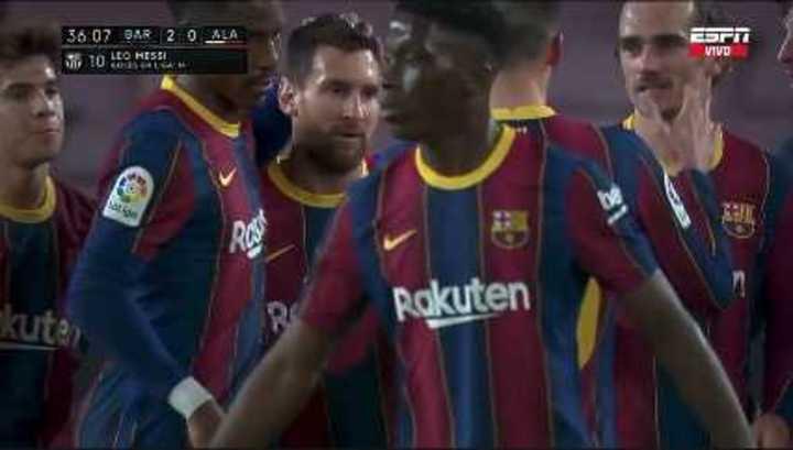 El resumen de Barcelona 5 - Alavés 1, con dos de Messi