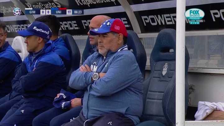 El detalle cabulero de Maradona