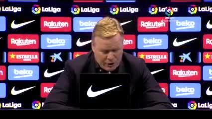 Koeman habló sobre el homenaje de Messi a Diego