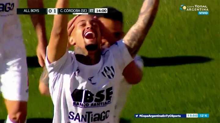 Central Córdoba se puso en ventaja por el gol de Joao Rodríguez