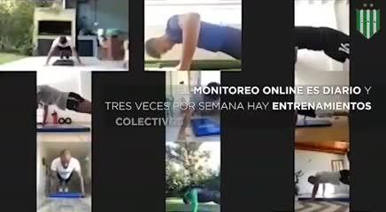 El entrenamiento virtual del plantel del Taladro