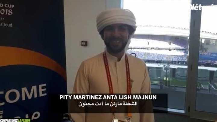 Los cantitos sobre el Pity y el Muñeco en árabe