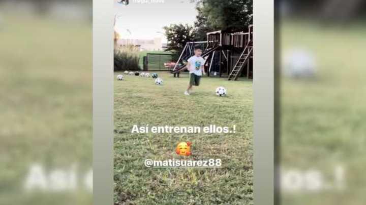 Suárez se entrena en compañía