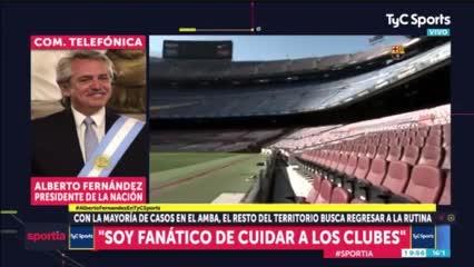 Alberto y el poder ver a Messi