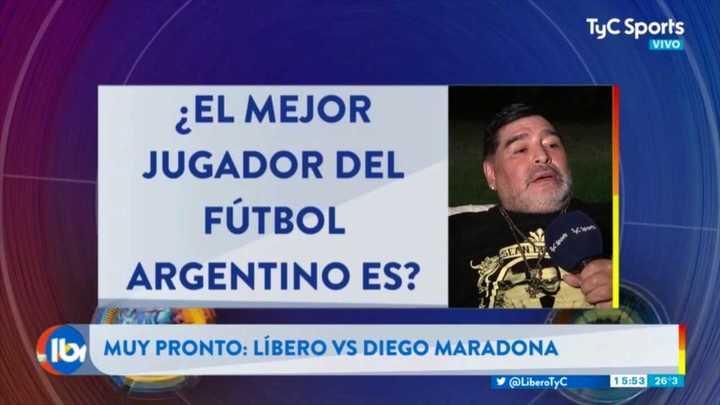 """Diego Maradona sobre Nacho Fernández: """"Me lo llevaría, tiene una gamuza en el pie"""""""