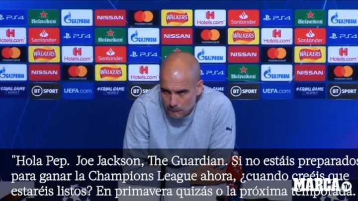 Guardiola cruzó a un periodista que le preguntó por la Champions