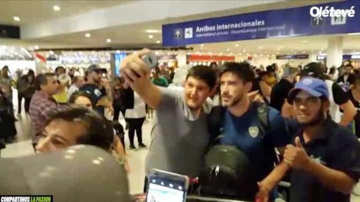 Boca llegó al país tras la derrota