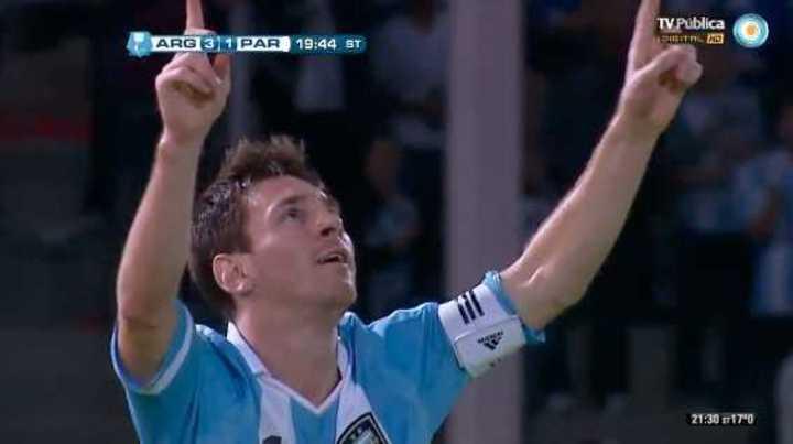 Los cinco goles de Messi a Paraguay