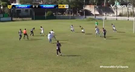 El gol de Acassuso a J. J. Urquiza