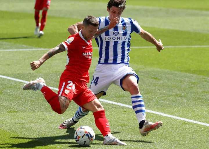 Sevilla le ganó 2-1 a Real Sociedad en País Vasco