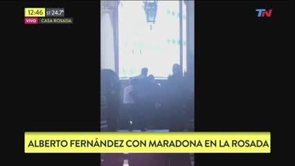 Maradona llegó a Casa Rosada