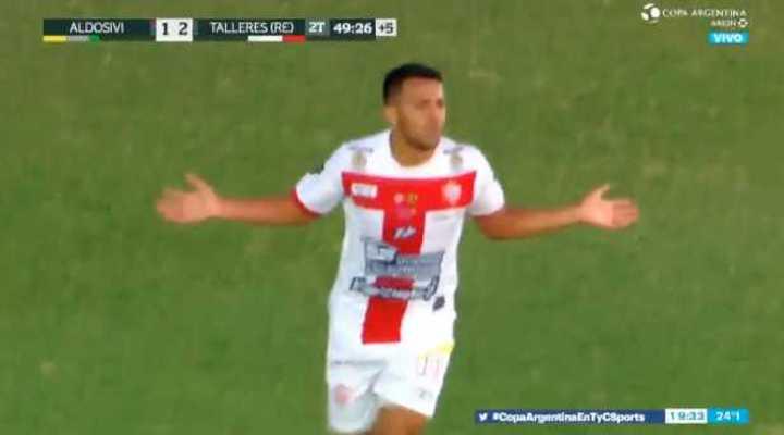 Talleres (RE) le ganó a Aldosivi por Copa Argentina