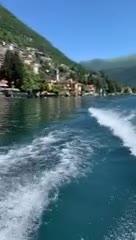 Mauro y Wanda, de paseo por el Lago Como