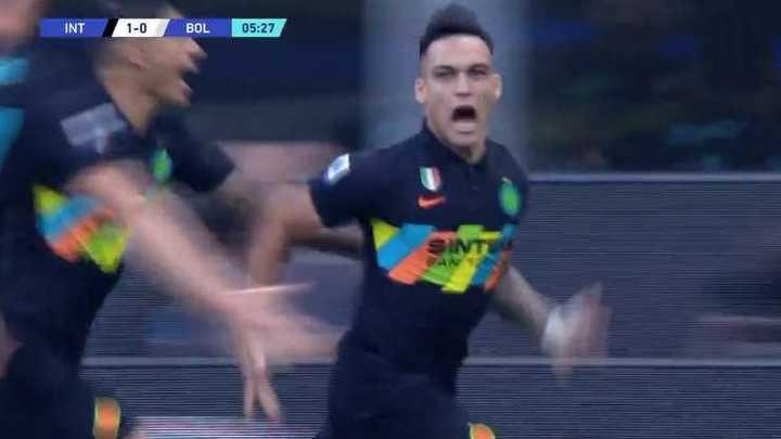 Inter ganó 6 a 1 con un gol de Lautaro Martínez
