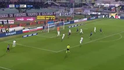 Gio Simeone anotó para la Fiorentina ante Empoli