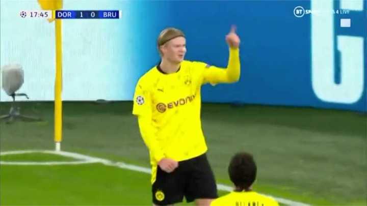 Haaland abrió la cuenta para el Dortmund