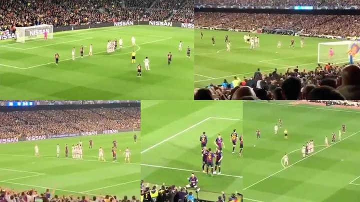 El gol de Messi, desde adentro