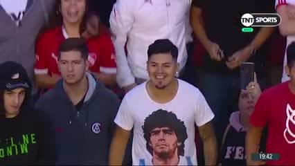 La entrada de Maradona