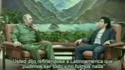 El día que Maradona entrevistó a Fidel