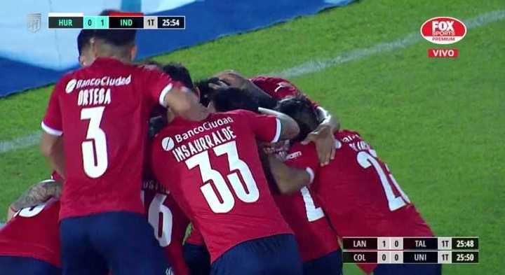Independiente se puso arriba con un gol en contra