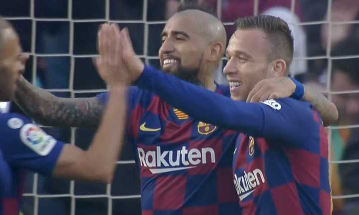 El quinto gol del Barcelona