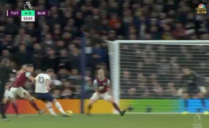 Mirá los 5 goles del Tottenham frente al Burnley