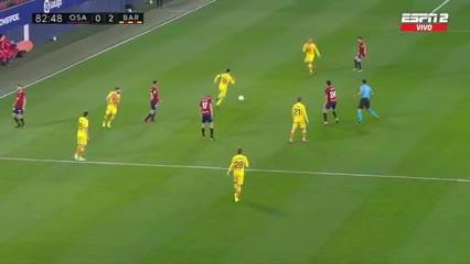 Ilaix Moriba metió un golazo ante Osasuna