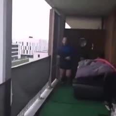 Una maratón en el balcón