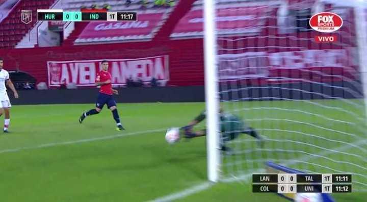 Independiente tuvo el primero y respondió Huracán con un cabezazo