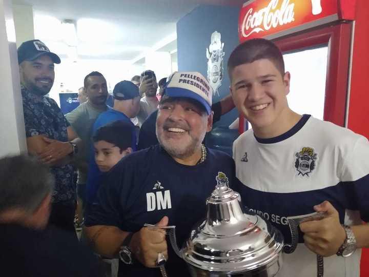 El encuentro entre Maradona y Moscardini