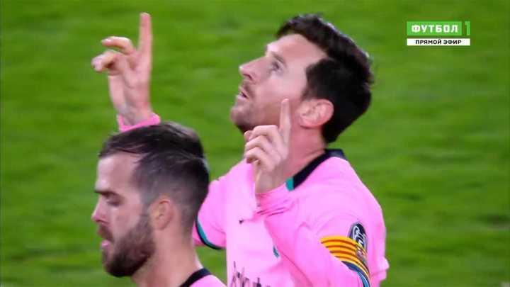 Messi marcó el segundo del Barcelona de penal